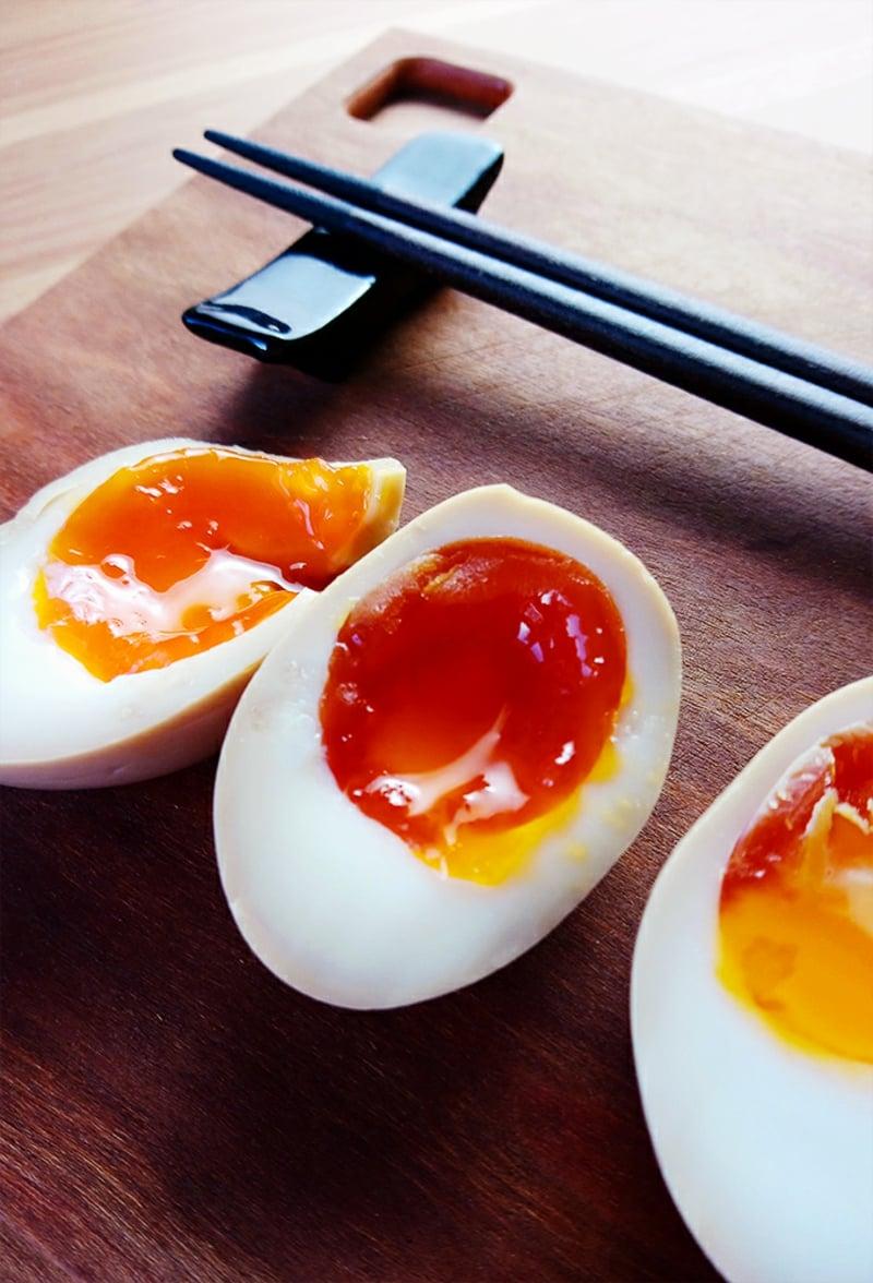 Pak Choi Rezepte Salat mit Ramen Eiern