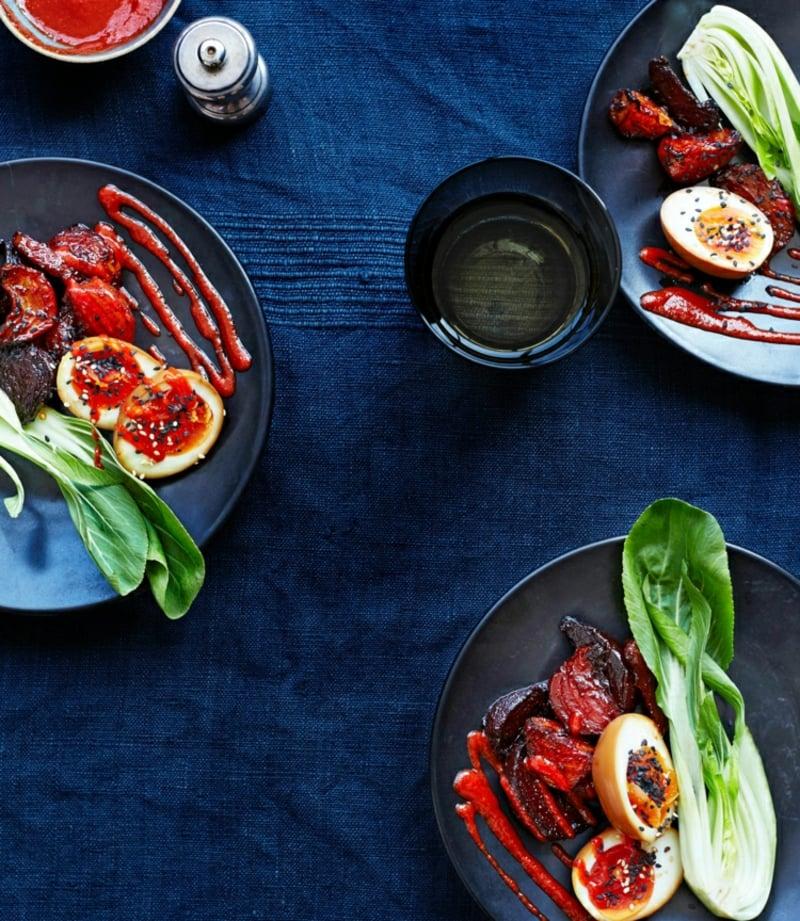Pak Choi Rezepte gesunder Salat mit Rote Bete