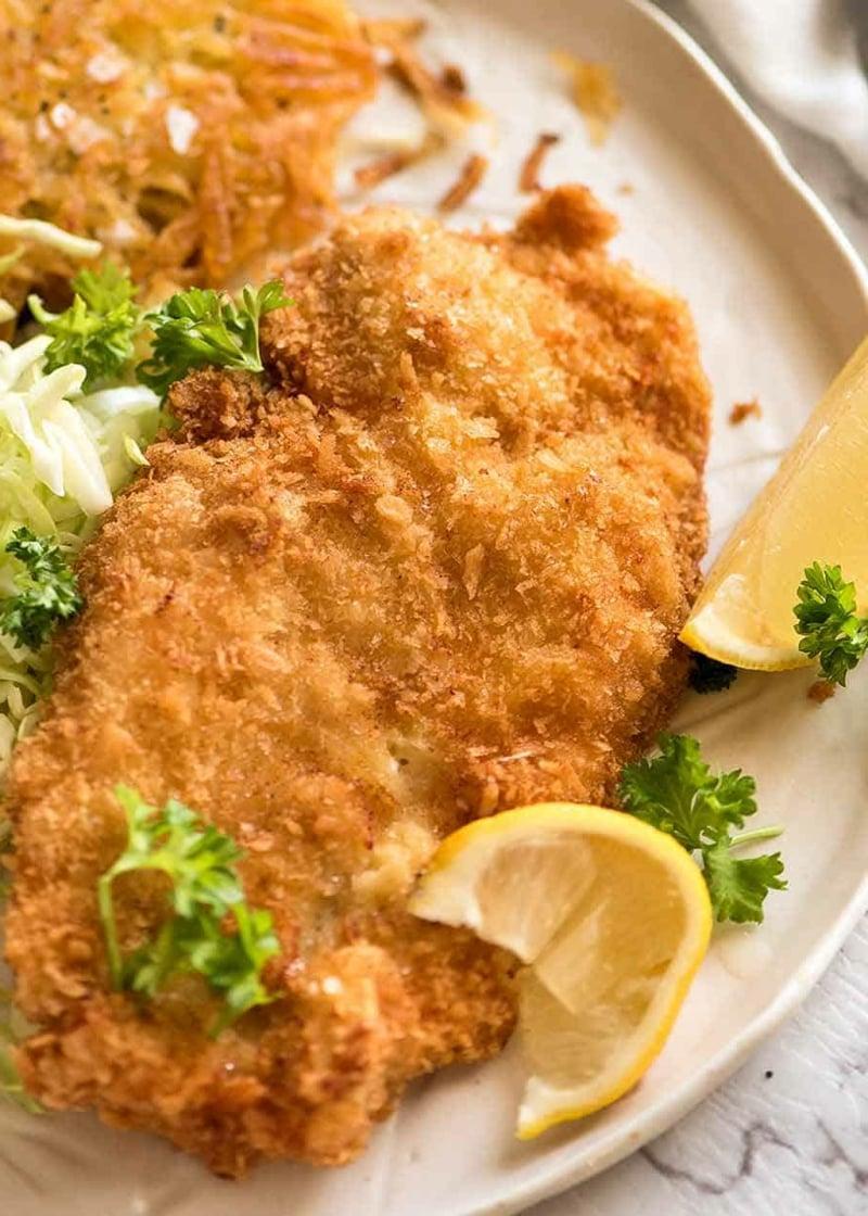leichte Heißluftfritteuse Rezepte Schnitzel
