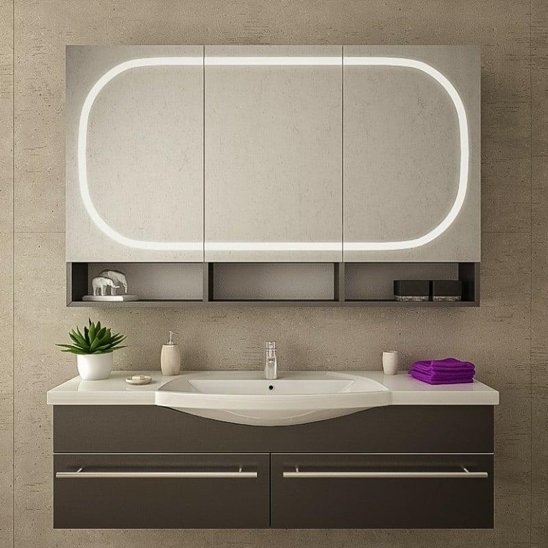 eleganter Spiegelschrank Badezimmer LED-Beleuchtung