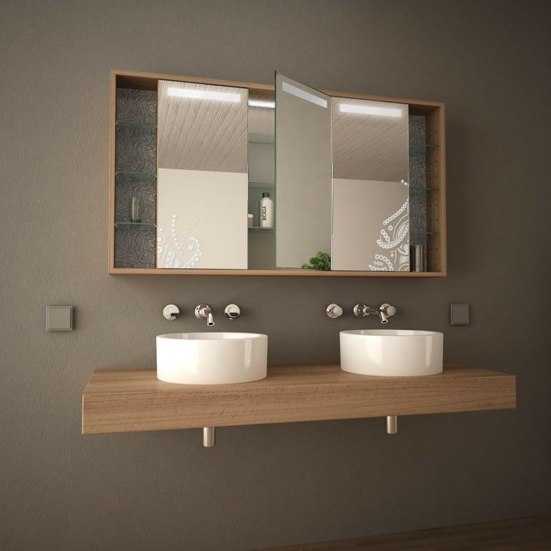 Schrank Spiegeloberfläche Bad Doppelwaschtisch