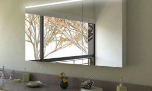 Schrank LED-Lampe Spiegeloberfläche Bad