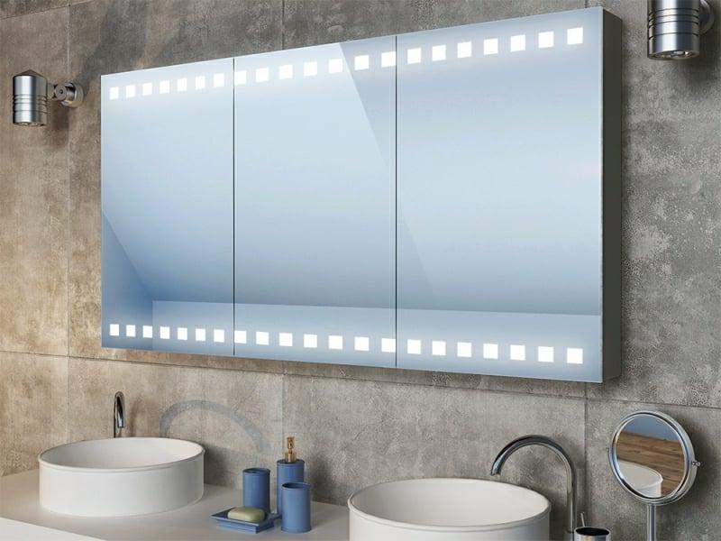 Schrank Spiegeloberfläche LED-Leuchten