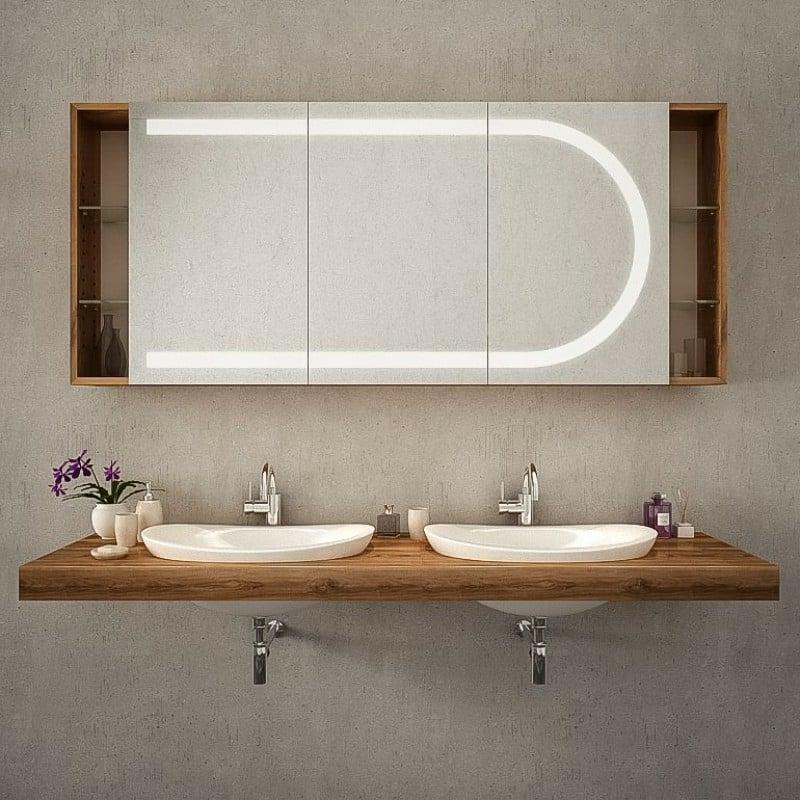 Badezimmer Spiegelschrank eingebaute Beleuchtung
