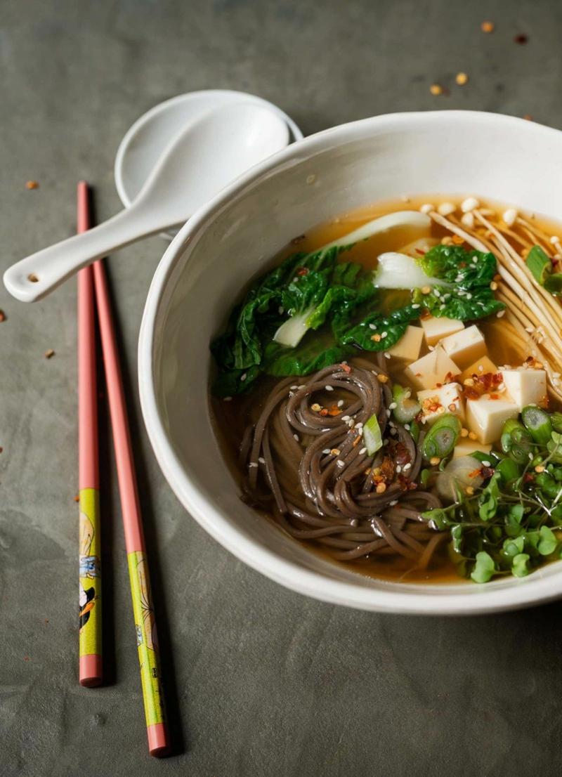 asiatische Miso Suppe mit Senfkohl