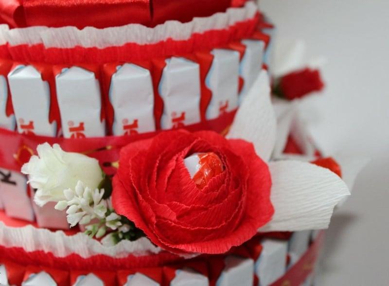 Kinderriegel Torte dekorieren kreativ