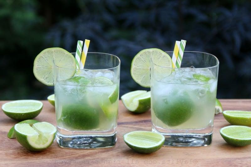 alkoholfreie Cocktails brasilianisch Caipirinha