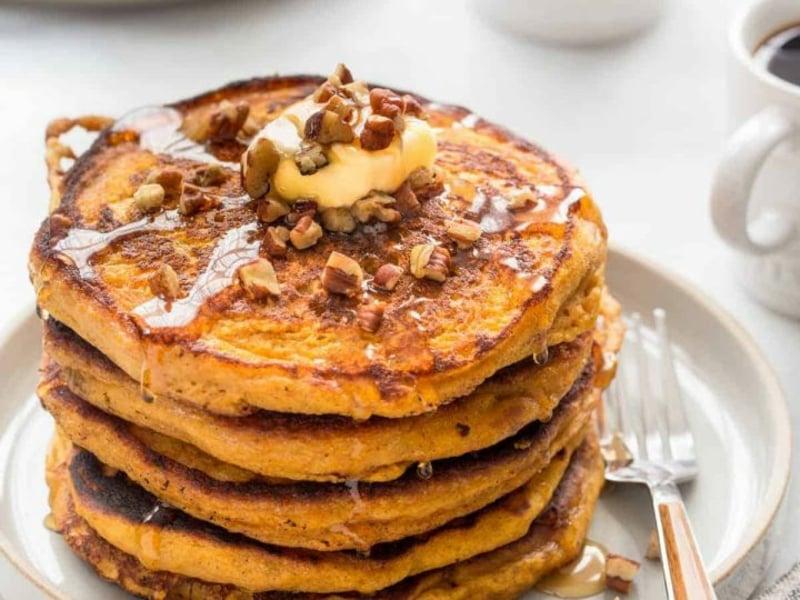 American Pancakes Rezept Kürbis Pfannkuchen DIY