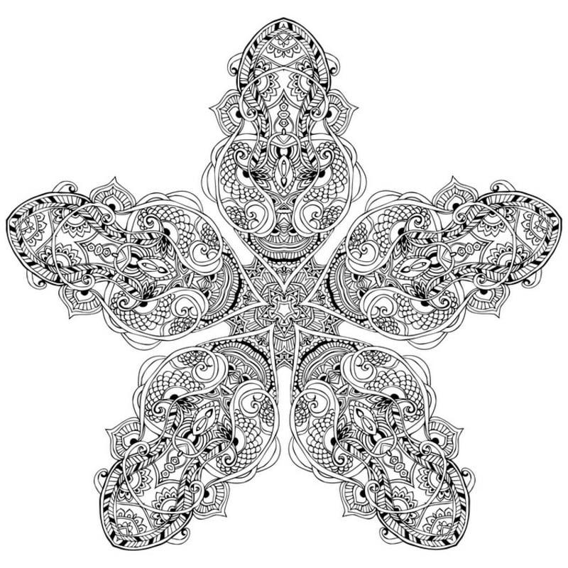 blumenförmige Mandala kostenlos