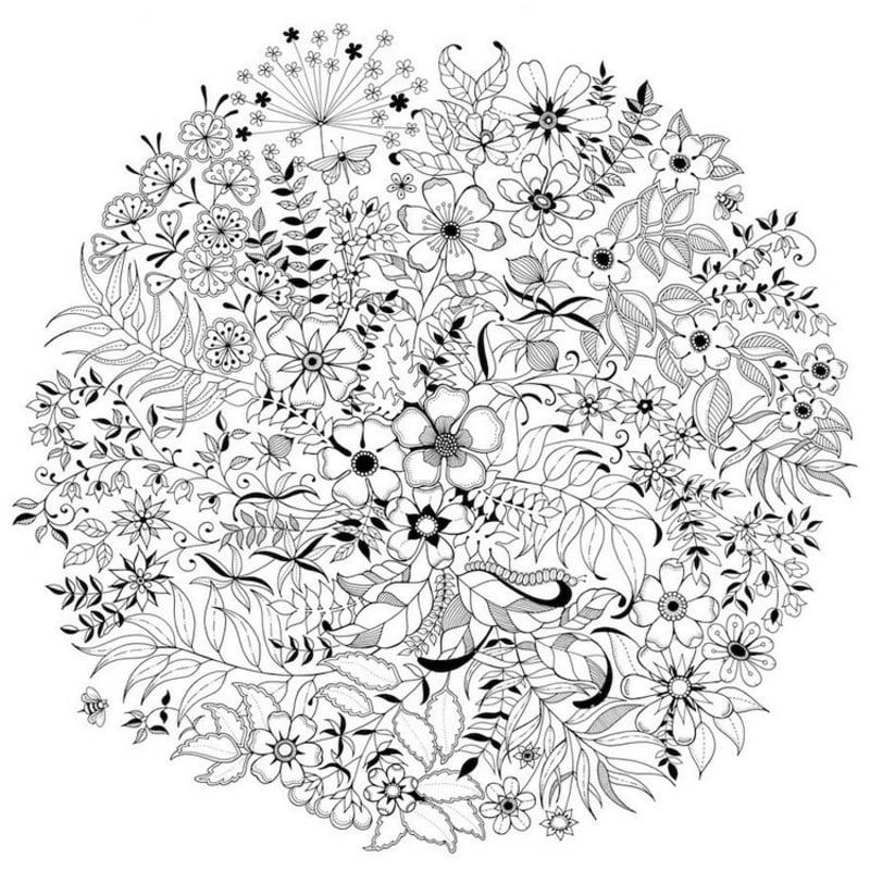 Mandala Vorlage ausmalen Frühlingsblumen