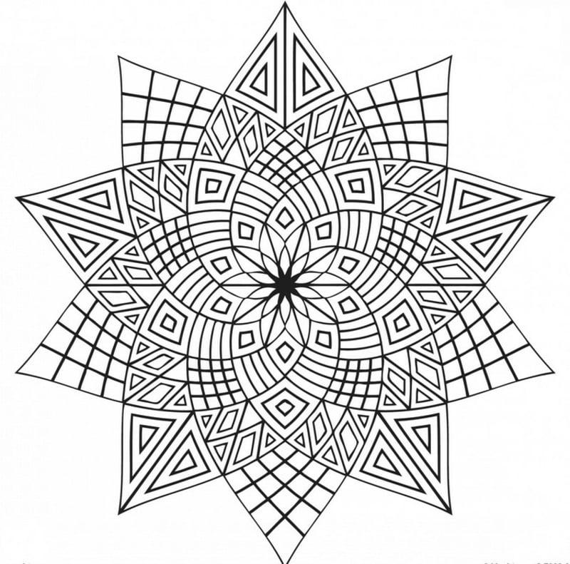 Mandala Vorlage geometrische Motive