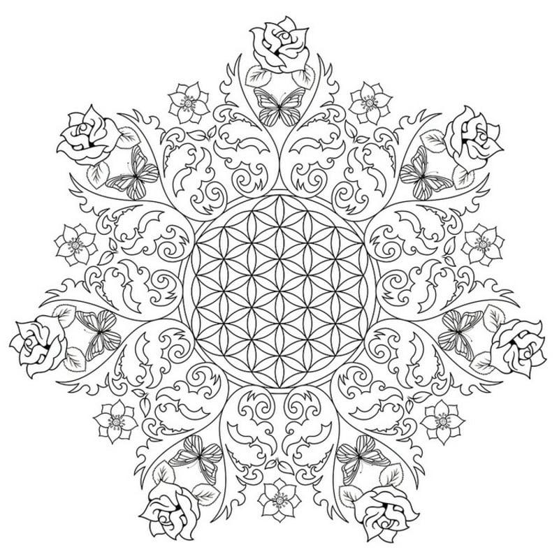 Mandala Vorlage kreisförmig