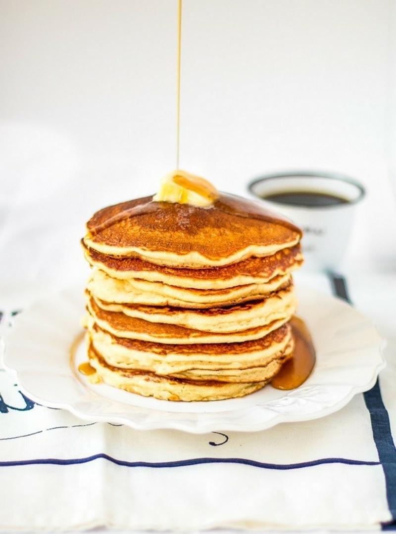 Pfannkuchen mit Butter lecker