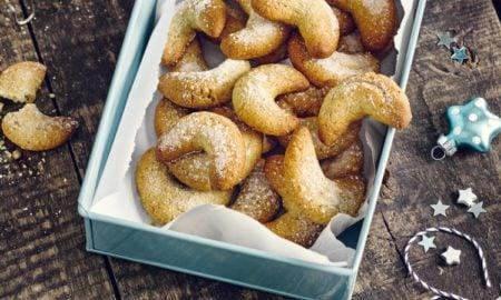 Vanille Hörnchen aufbewahren Keksdose