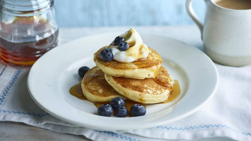 American Pancakes Rezept mit Blaubeeren
