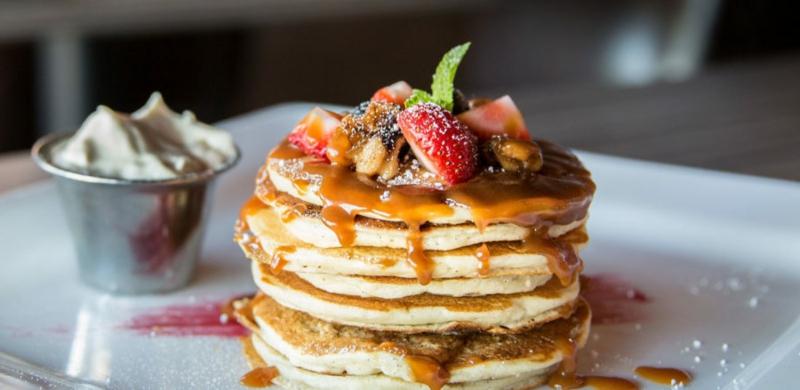 American Pancakes Rezept garnieren Ideen