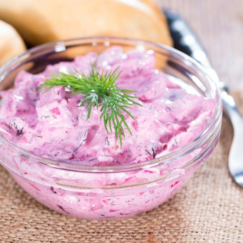 roter Salat mit Hering lecker gesund