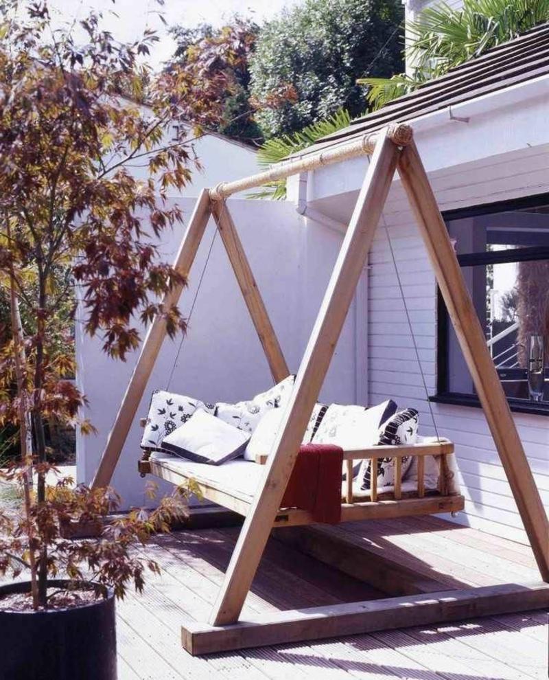 Gartenschaukel freistehend Holzgestell