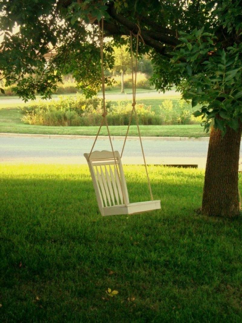 Gartenschaukel Stuhl Upcycling