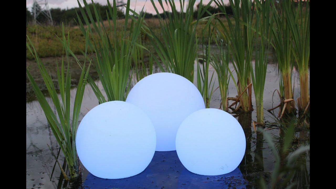 Die Solar Leuchtugeln können allen Wetterlagen trotzen
