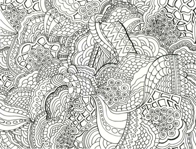 Ausmalbilder Erwachsene Zentangle kompliziertes Bild