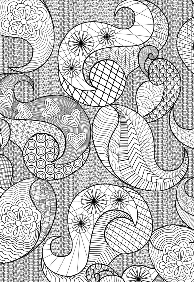 Ausmalbilder Erwachsene Wellenmuster Zentangle