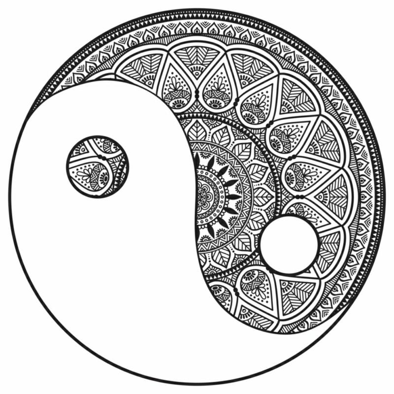 Ausmalbilder Erwachsene Zentangle Yin Yang