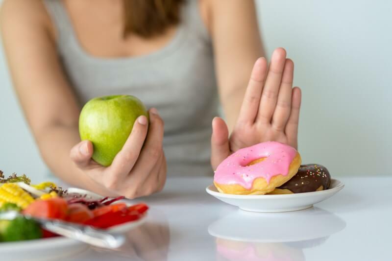 auf Süßigkeiten und Zucker verzichten