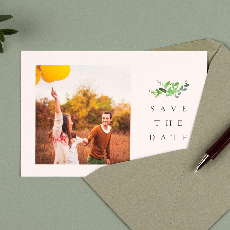 Save-the-date Karten mit Ihrem eigenen Foto