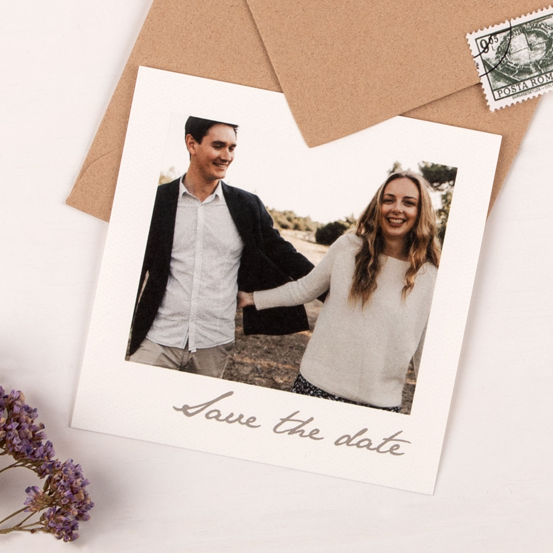 Save-the-date Karten aus Polaroid Fotos