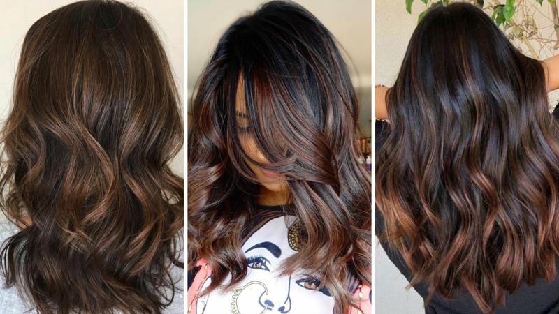 Haarfarbe Kaffee trendige Looks