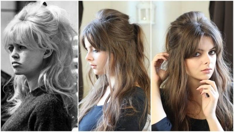 moderne Frisuren langes Haar Brigitte Bardot