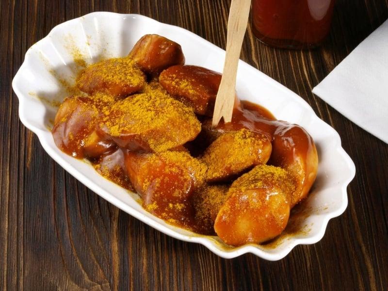 Currywurst Rezept Serviervorschlag