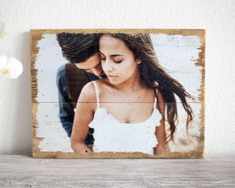 Foto auf Holz transferieren romantische Ideen