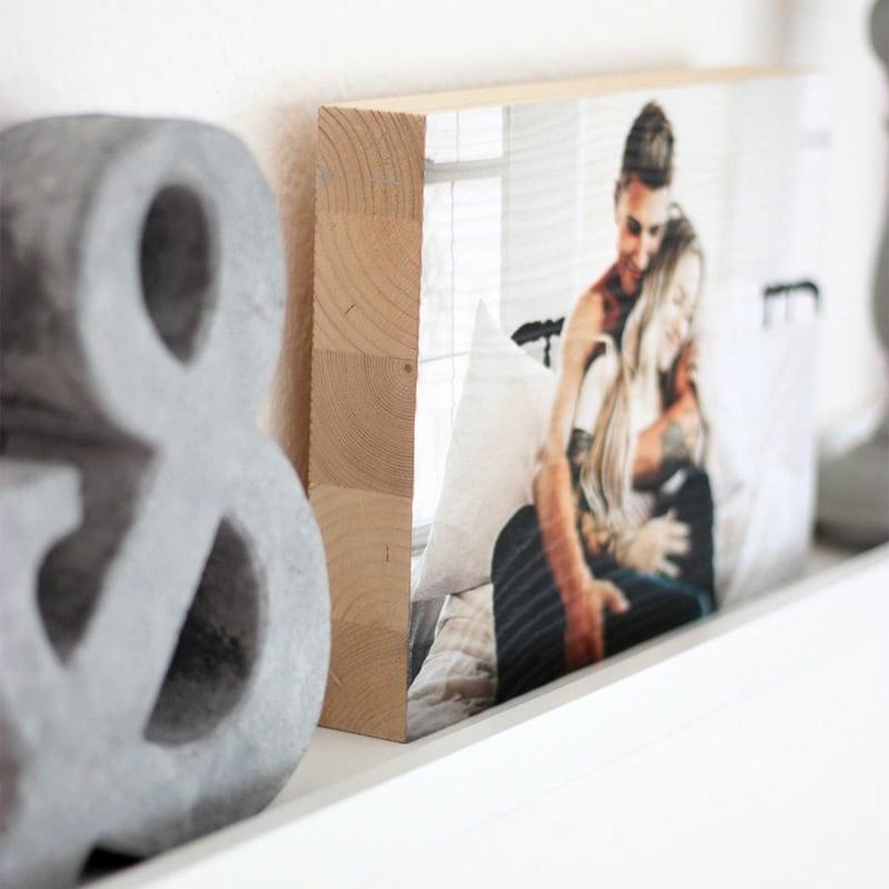 Foto auf Holz persönliche Deko