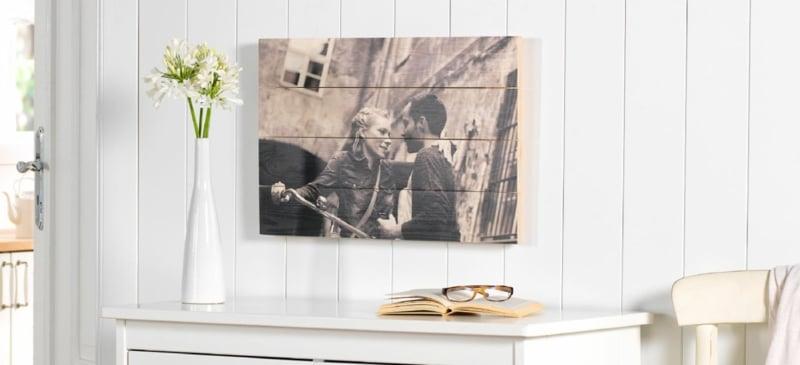 Foto auf Holz Bretter echt romantisch