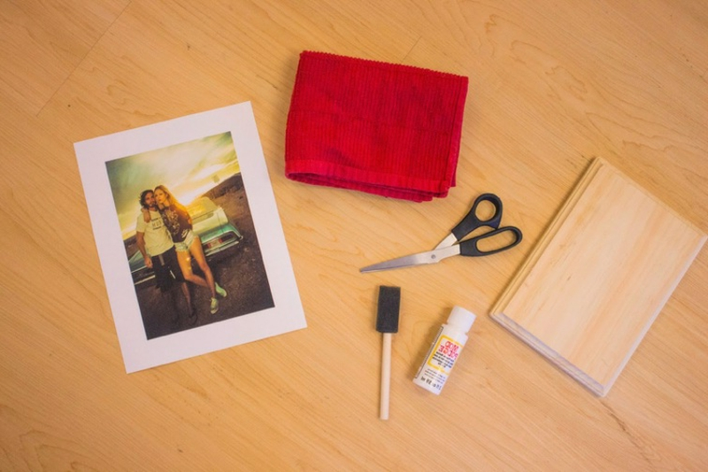 Foto auf Holz notwendige Materialien