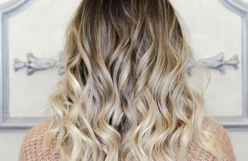 lockiges Haar Ombre Effekt herrlicher Look