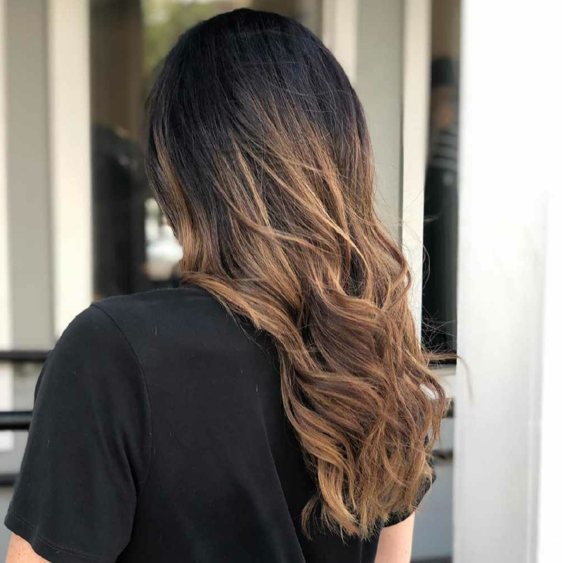 cold brew haare balayage