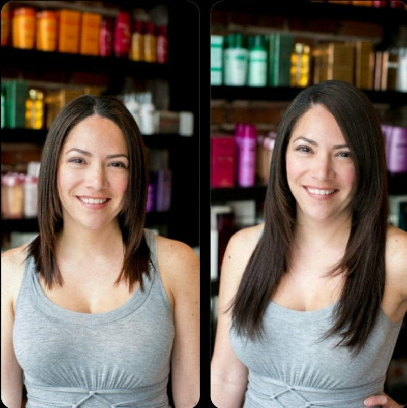 Haarverlängerung schönes Ergebnis