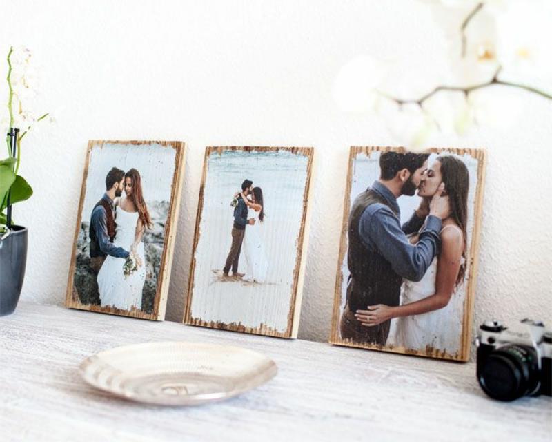 Foto auf Holz übertragen Hochzeitsfotos