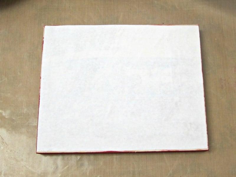 Foto auf Holz übertragen Holztafel weiß streichen