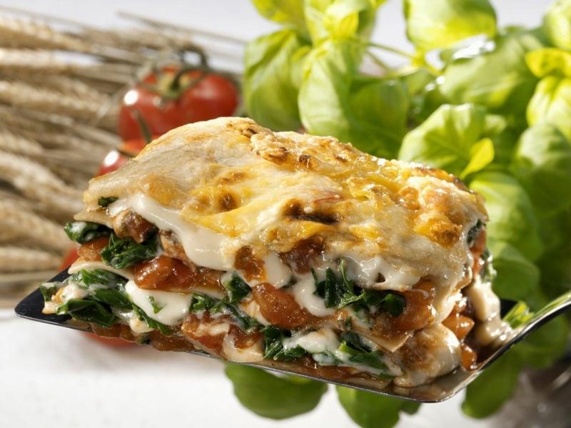 Spinatlasagne mit Käse Rezept