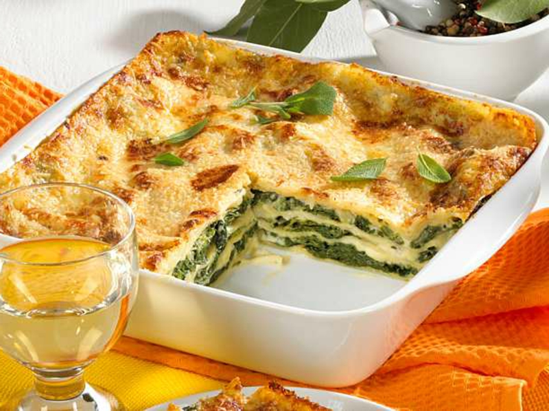 vegetarische Lasagne mit Spinat lecker