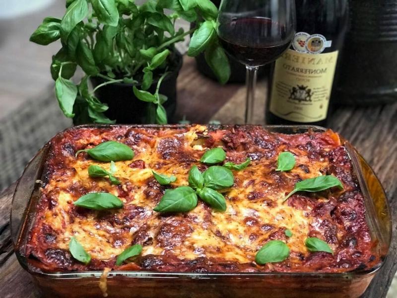 Lasagne überbacken vegetarisch ohne Fleisch