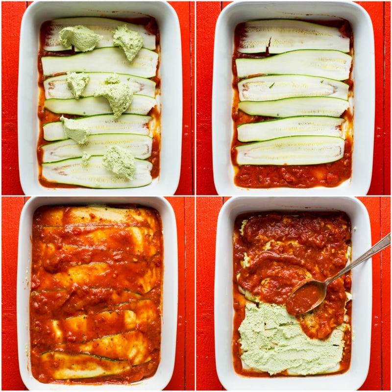 vegetarische Lasagne mit Zucchini Zubereitung