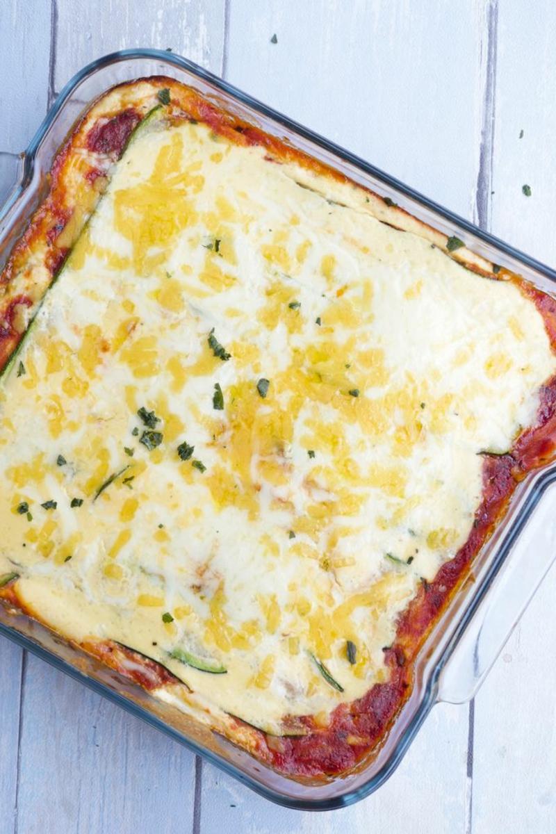 vegetarische Lasagne mit Zucchini und Ricotta