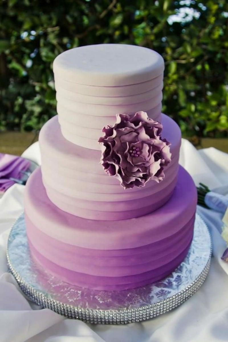 Ombre Torte in Violett herrlicher Look