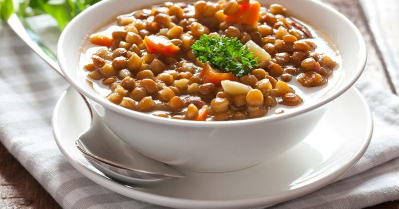 Suppe schmackhaft Linsen