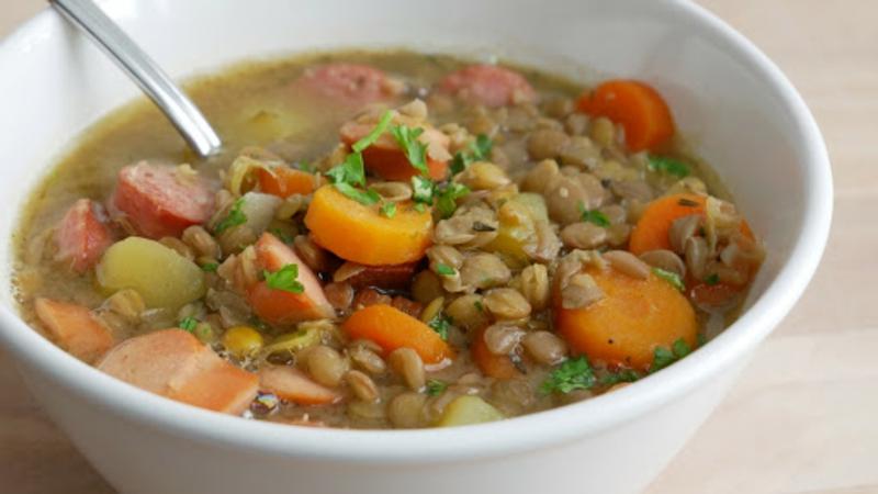 Linsensuppe mit Karotte gesund lecker